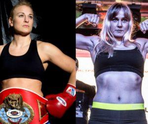 Las boxeadoras profesionales Maria Lindberg e Inna Sagaydakovskaya
