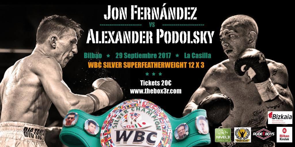 Jon fernández vs Alexander Podolsky el 29 de septiembre en Bilbao