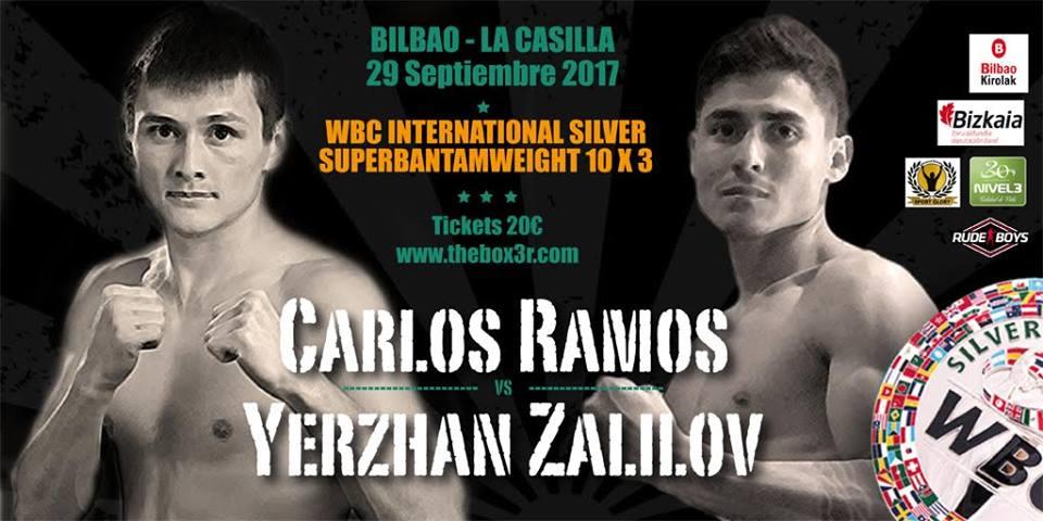 Los boxeadores profesionales Yerzan Zalilov y Carlos Ramos