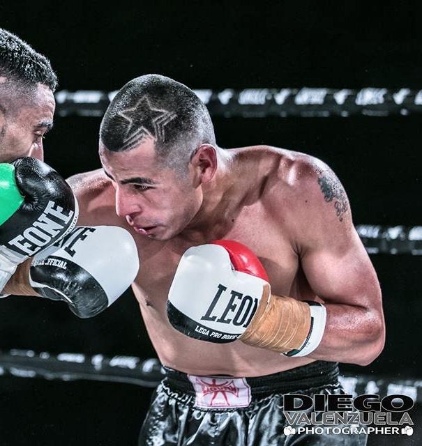 El boxeador riojano en el transcurso de uno de sus anteriores combates.