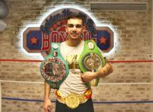 El boxeador etxebarritarra Jon Fernández tras el entrenamiento solidario del pasado sábado en Golden Health Boxing