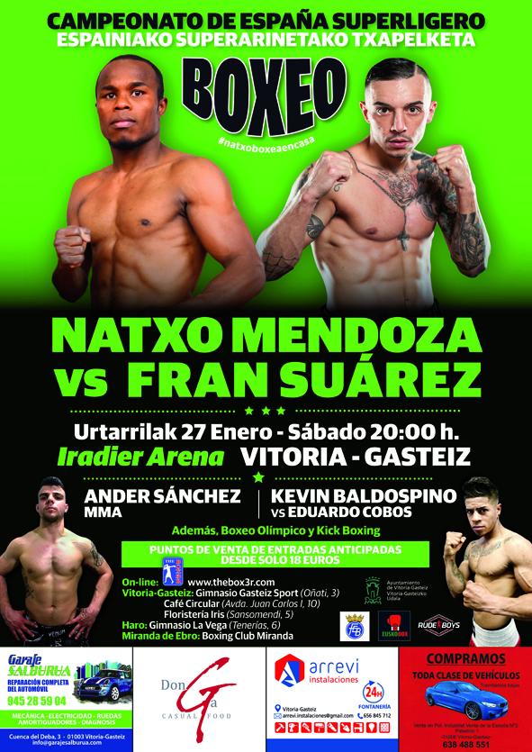 Cartel de la velada de boxeo, MMA y KickBoxing del próximo 27 de enero de 2018