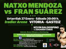 Boxeo profesional, Kevin Baldospino frente a Eduardo Cobos en Vitoria Gasteiz el 27 de enero.