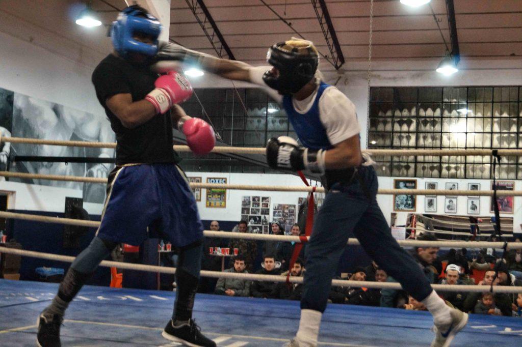 Un momento de la sesión de sparring del pasado sábado en el Gasteiz Sport de Vitoria