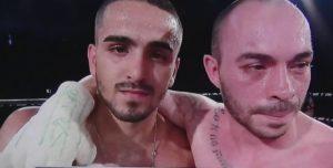 Tejera, a la derecha, tras un reciente combate televisado.