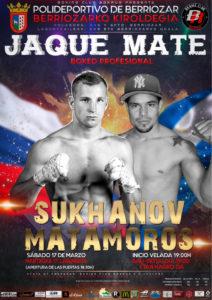 Boxeo: Artem Sukhanov ante Félix Matamoros en Berriozar el sábado 17 de marzo