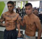 El boxeador profesional mirandés, Kevin Baldospino, y Arnoldo Solano dieron el peso para su combate de mañana.