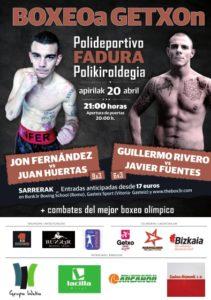 Cartel boxeo Getxo Bizkaia 20 abril